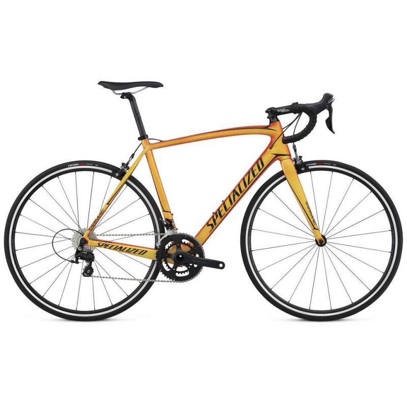Specialized Tarmac SL4 Sport (2017) gloss moto orange/bright yellow/ tarmac black