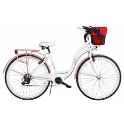Rower miejski Milos 28'' 7 biegów + kosz
