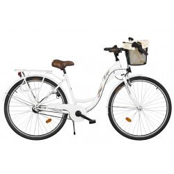 Rower miejski Margot 28'' Nexus 3 biały + kosz