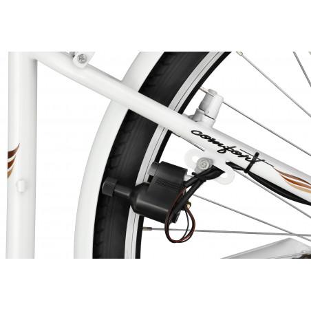 Rower miejski Margot 26'' torpedo Nexus 3 biały + kosz