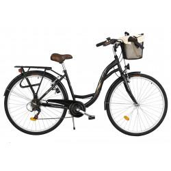 Rower miejski Margot 26'' ECO 6 biegów czarny