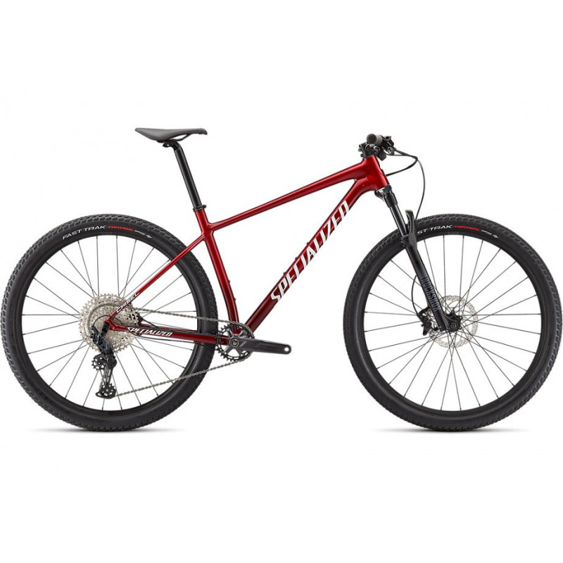 Specialized Chisel Comp (2021) gloss red tint brushed/whie
